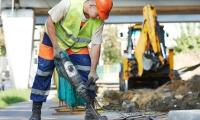 Les marteaux-piqueurs pneumatiques pour les travaux publics des communes et administrations